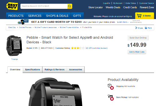 Pebble Best Buy
